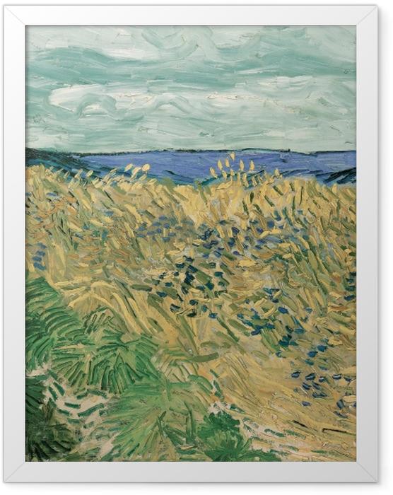 Gerahmtes Poster Vincent van Gogh - Weizenfeld mit Kornblumen - Reproductions