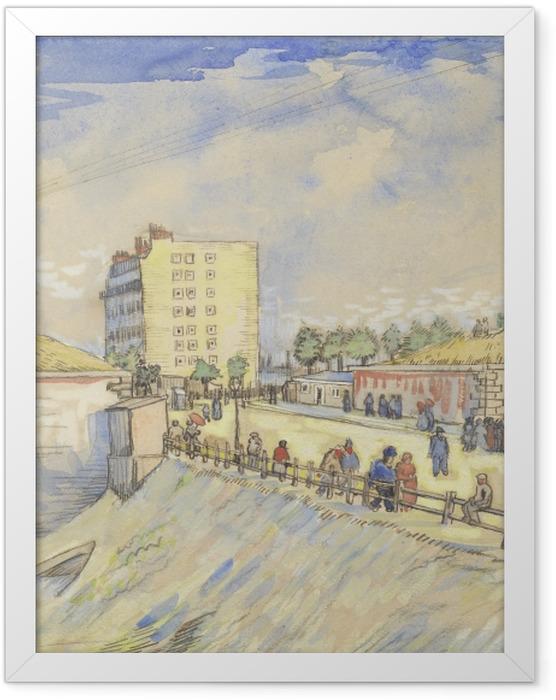 Gerahmtes Poster Vincent van Gogh - Tor in den Pariser Stadtmauern - Reproductions