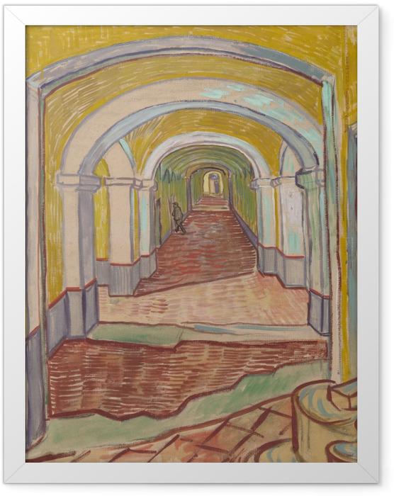 Poster en cadre Vincent van Gogh - Couloir dans l'asile - Reproductions