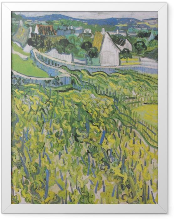 Gerahmtes Poster Vincent van Gogh - Weinberge mit Blick auf Auvers - Reproductions