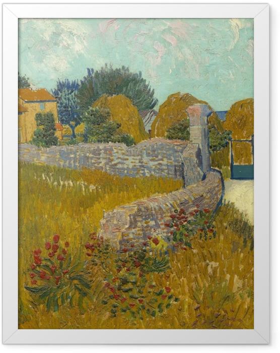 Plakat w ramie Vincent van Gogh - Pole ze zbożem - Reproductions