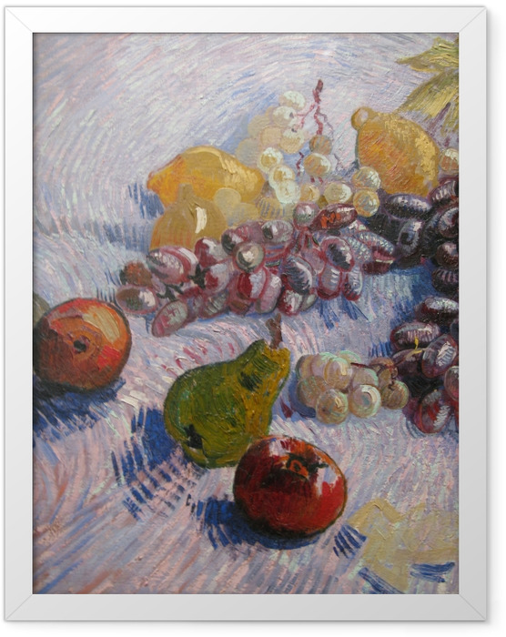 Plakat w ramie Vincent van Gogh - Winogrona, cytryny, gruszki i jabłka - Reproductions