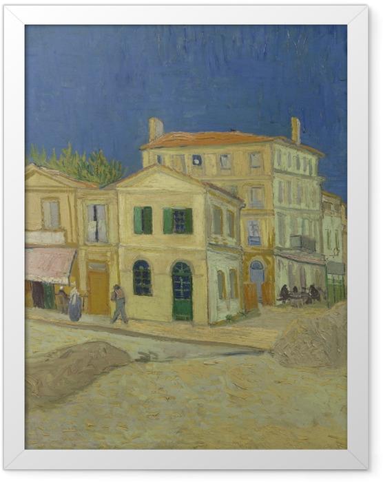 Poster en cadre Vincent van Gogh - La Maison jaune - Reproductions