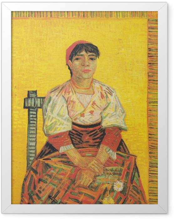 Gerahmtes Poster Vincent van Gogh - Italienische Frau - Reproductions