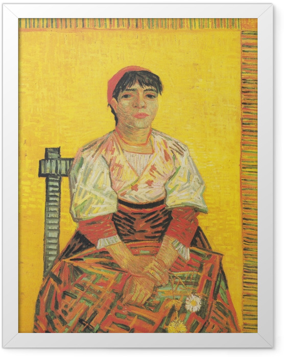 Plakat w ramie Vincent van Gogh - Włoszka - Reproductions
