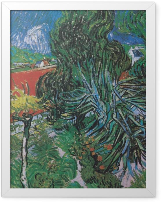 Poster en cadre Vincent van Gogh - Dans le jardin du docteur Paul Gachet - Reproductions