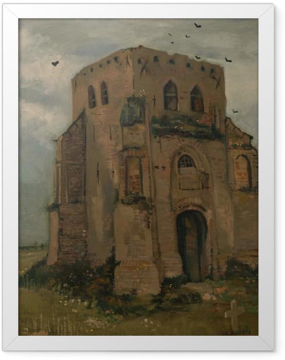 Gerahmtes Poster Vincent van Gogh - Der alte Kirchturm bei Nuenen - Reproductions