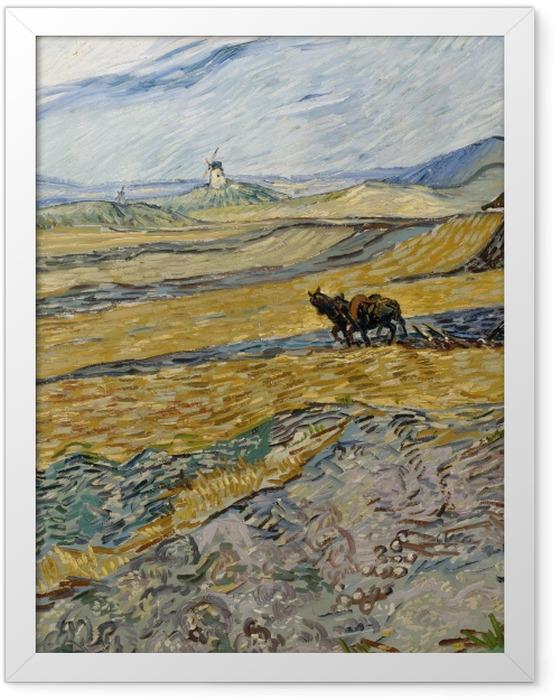 Plakat w ramie Vincent van Gogh - Oracz na polu - Reproductions