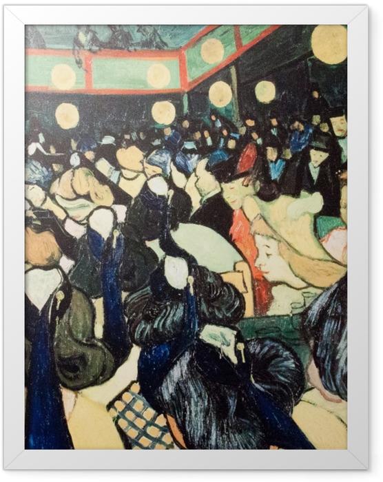 Poster en cadre Vincent van Gogh - La Salle de danse à Arles - Reproductions