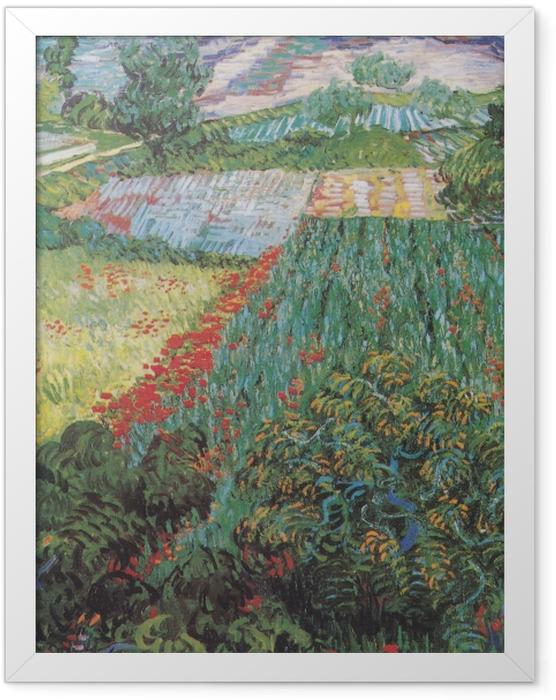 Poster en cadre Vincent van Gogh - Champ aux coquelicots - Reproductions