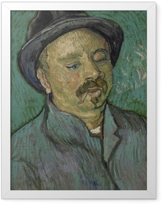 Poster en cadre Vincent van Gogh - Portrait d'un homme borgne - Reproductions
