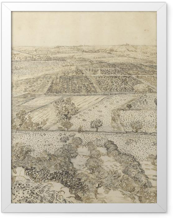 Plakat w ramie Vincent van Gogh - Widok na la Crau z Montmajour - Reproductions