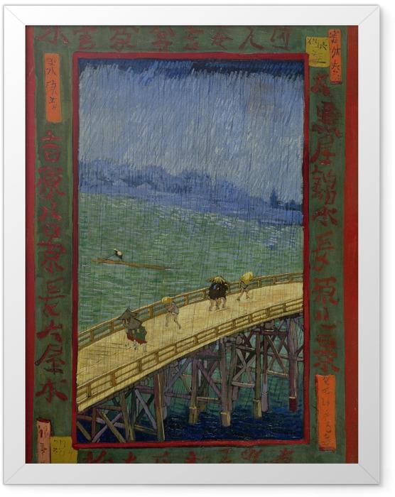 Poster en cadre Vincent van Gogh - Le pont à Regen - Reproductions