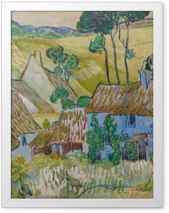 Gerahmtes Poster Vincent van Gogh - Bauernhöfe bei Auvers - Reproductions