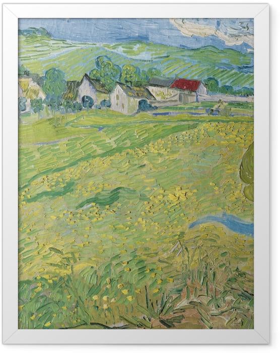 Plakat w ramie Vincent van Gogh - Widok na Auvers nieopodal Les Vessenots - Reproductions
