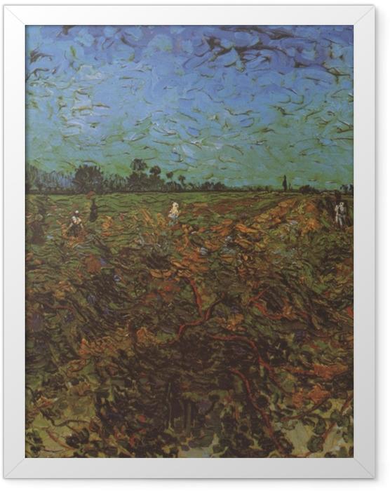 Gerahmtes Poster Vincent van Gogh - Der grüne Weinberg - Reproductions