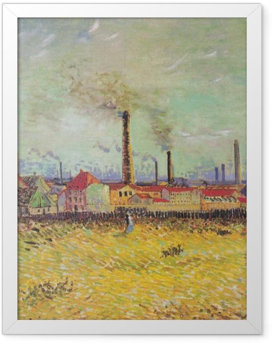 Gerahmtes Poster Vincent van Gogh - Fabriken in Asnières - Reproductions