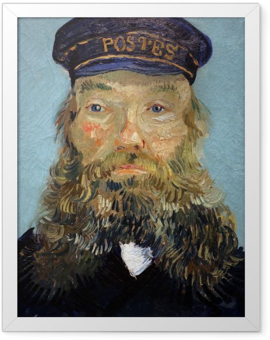 Gerahmtes Poster Vincent van Gogh - Porträt des Postmeisters Joseph Roulin - Reproductions