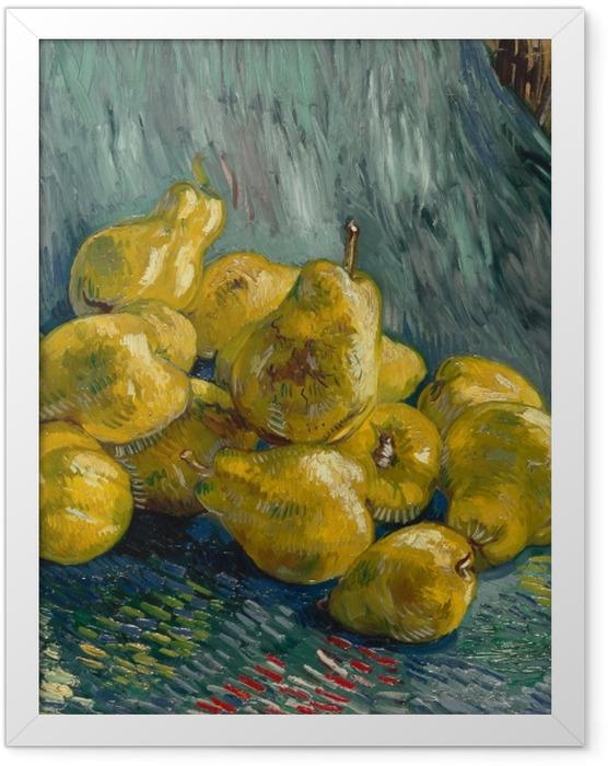 Gerahmtes Poster Vincent van Gogh - Stillleben mit Quitten - Reproductions