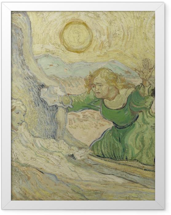 Gerahmtes Poster Vincent van Gogh - Die Auferweckung des Lazarus - Reproductions