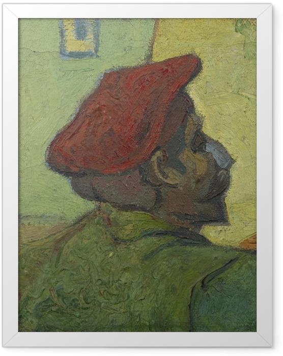 Poster en cadre Vincent van Gogh - Homme au béret rouge - Reproductions
