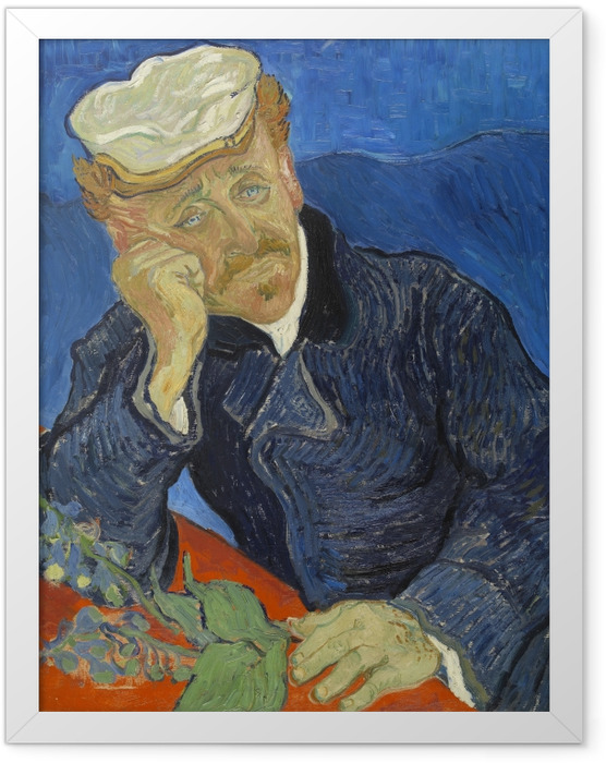 Plakat w ramie Vincent van Gogh - Dr. Paul Gachet - Reproductions