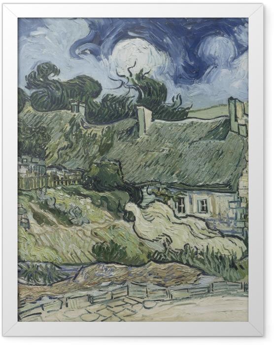 Plakat w ramie Vincent van Gogh - Krajobraz z domkami - Reproductions