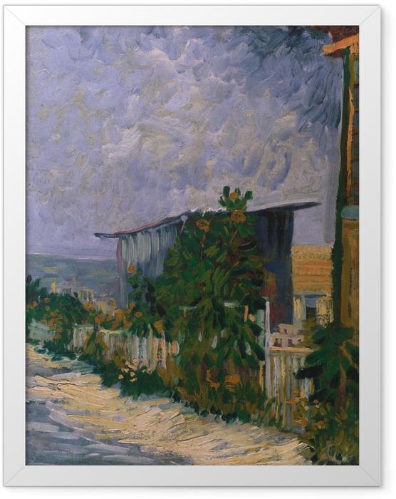 Poster en cadre Vincent van Gogh - Abri de Montmartre - Reproductions