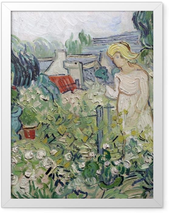 Plakat w ramie Vincent van Gogh - Panienka Gachet w swoim ogrodzie w Auvers - Reproductions