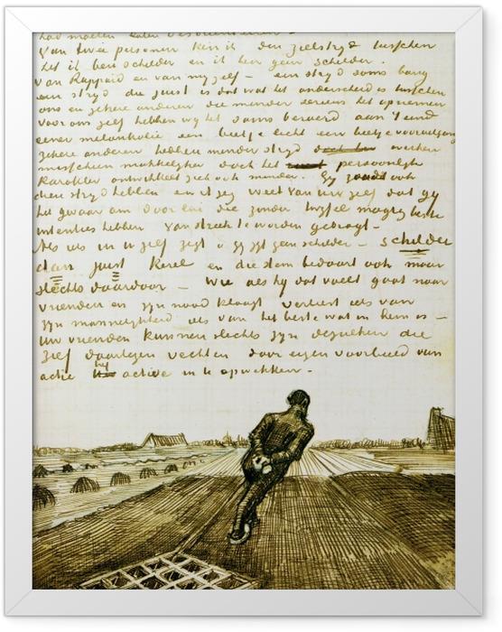 Poster en cadre Vincent van Gogh - Homme tirant une herse - Reproductions