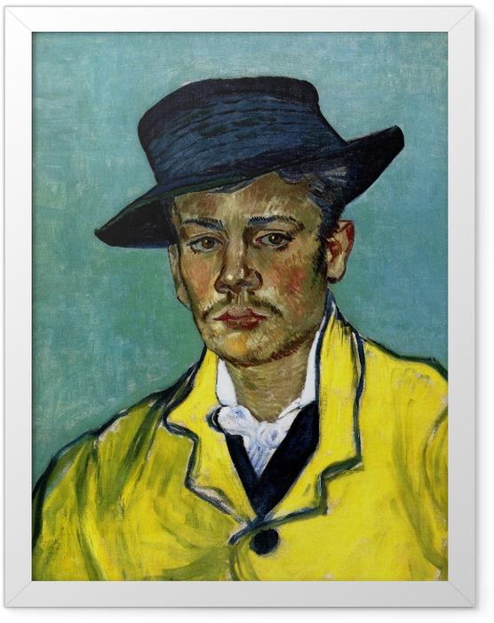 Gerahmtes Poster Vincent van Gogh - Bildnis eines jungen Mannes (Armand Roulin) - Reproductions
