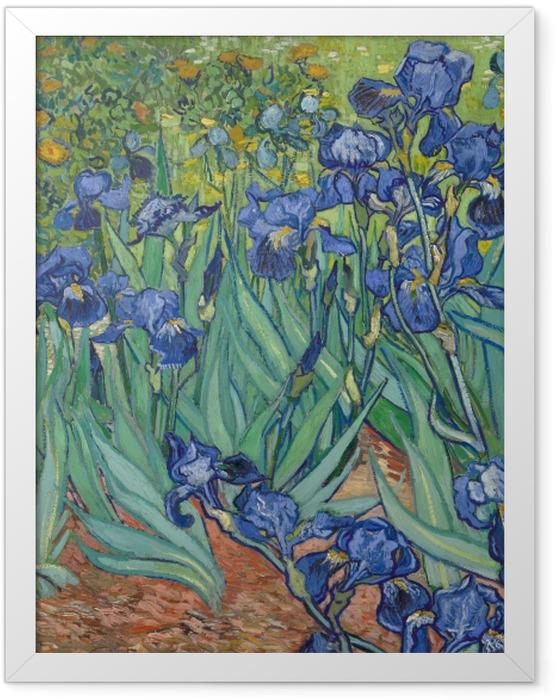 Plakat w ramie Vincent van Gogh - Irysy - Reproductions