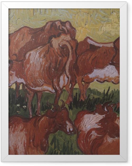 Plakat w ramie Vincent van Gogh - Krowy - Reproductions