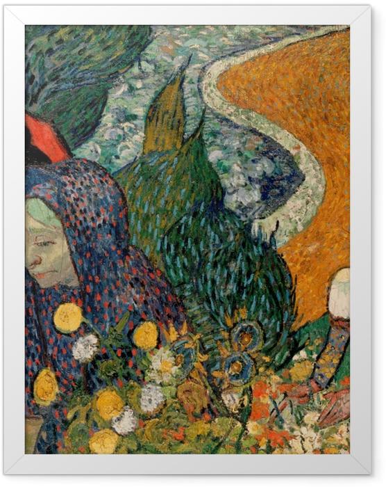 Poster en cadre Vincent van Gogh - Les Femmes d'Arles (Souvenir du jardin à Etten) - Reproductions