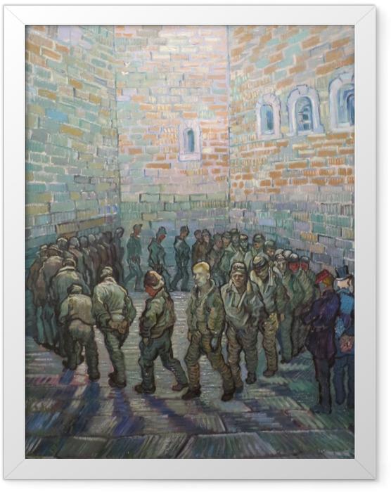 Poster en cadre Vincent van Gogh - L'exercice des prisonniers - Reproductions