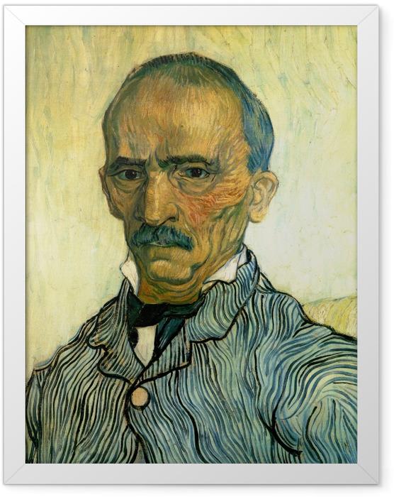 Gerahmtes Poster Vincent van Gogh - Porträt des Oberwärters der Irrenanstalt Saint-Paul, Trabuc - Reproductions