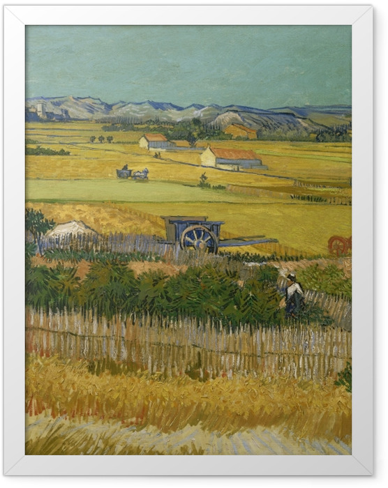 Gerahmtes Poster Vincent van Gogh - Ernte - Reproductions