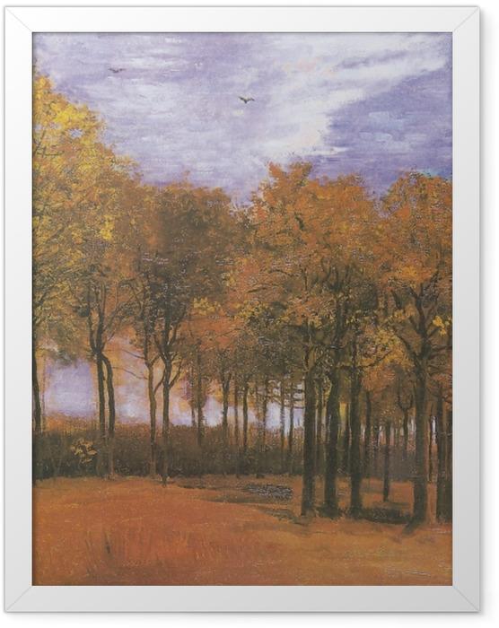 Poster en cadre Vincent van Gogh - Paysage d'automne - Reproductions