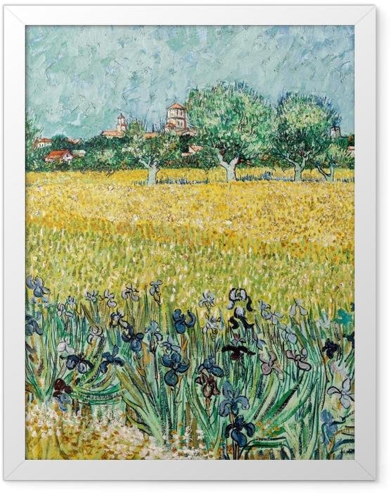 Plakat w ramie Vincent van Gogh - Widok na Arles z irysami na pierwszym planie - Reproductions