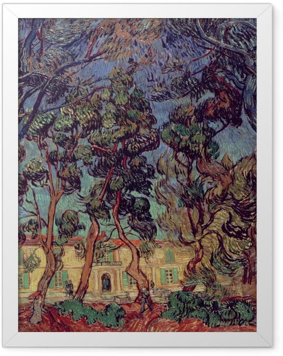 Gerahmtes Poster Vincent van Gogh - Das Hospital in Saint-Rémy - Reproductions