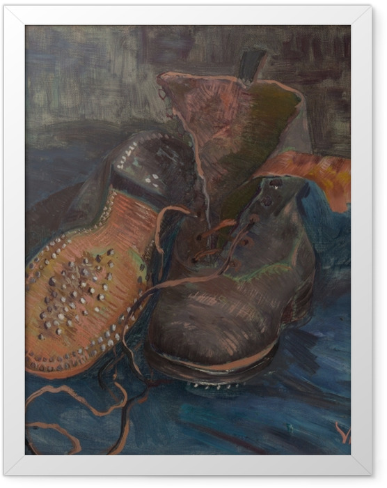 Plakat w ramie Vincent van Gogh - Buty - Reproductions