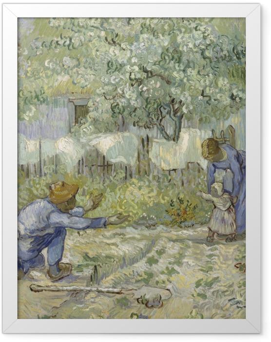 Gerahmtes Poster Vincent van Gogh - Die ersten Schritte - Reproductions