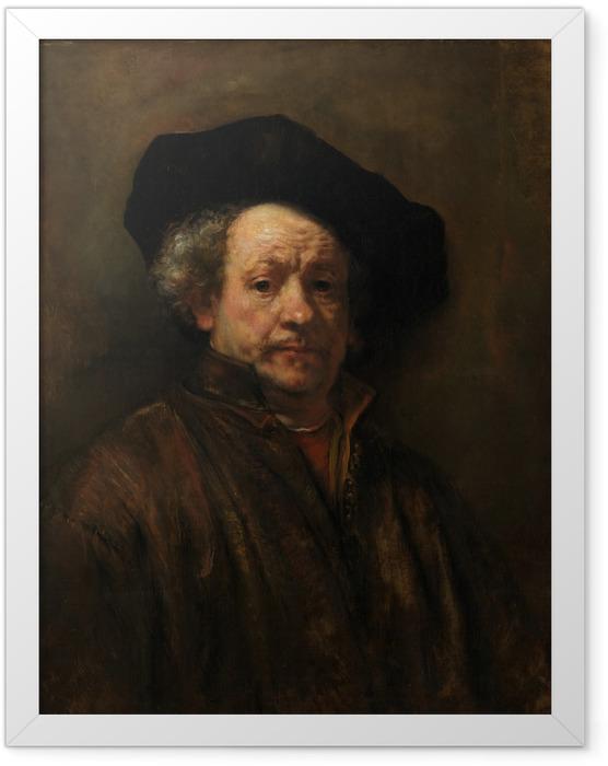 Gerahmtes Poster Rembrandt - Selbstporträt - Reproduktion
