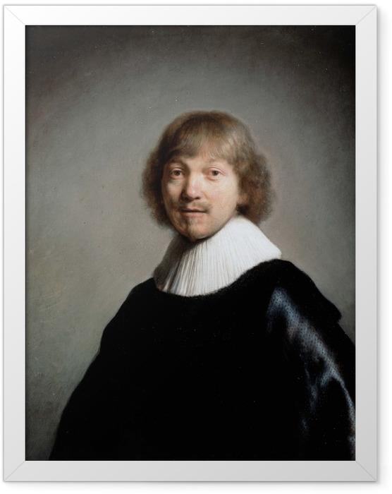 Gerahmtes Poster Rembrandt - Porträt von Jacques de Gheyn III - Reproduktion