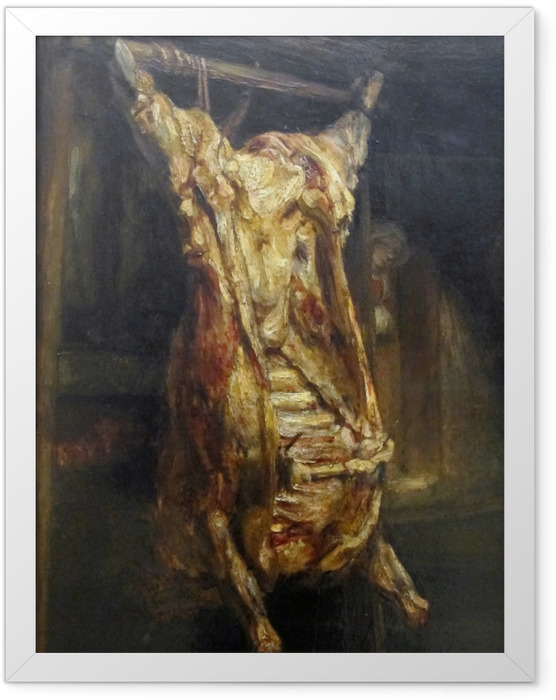Poster en cadre Rembrandt - Le Bœuf écorché - Reproductions