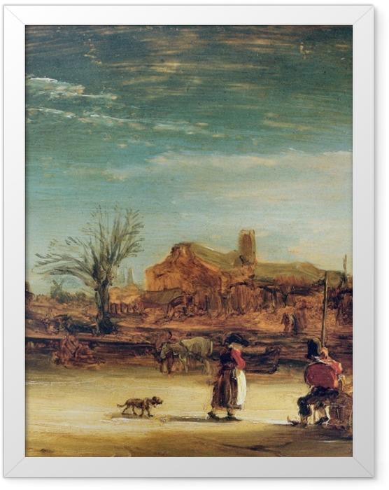 Poster en cadre Rembrandt - Paysage d'Hiver - Reproductions