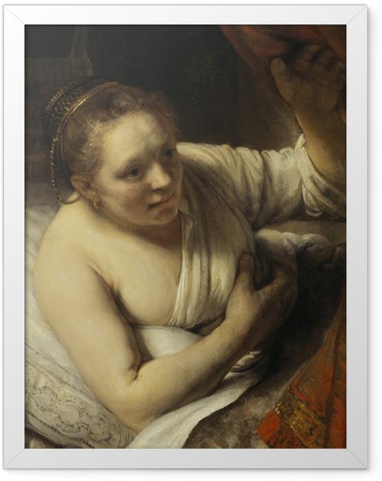 Poster en cadre Rembrandt - Jeune Femme au lit - Reproductions