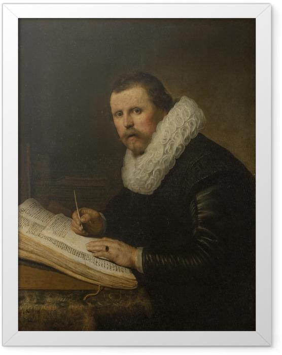 Gerahmtes Poster Rembrandt - Bildnis eines Gelehrten - Reproduktion