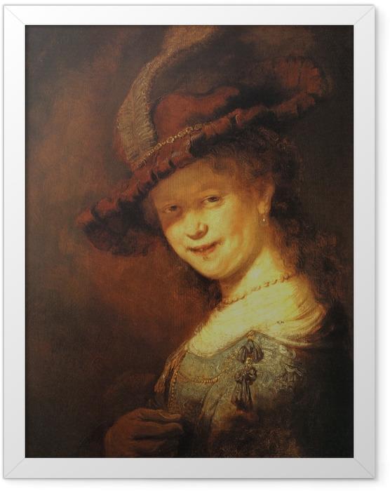 Gerahmtes Poster Rembrandt - Saskia van Uylenburgh als Mädchen - Reproduktion