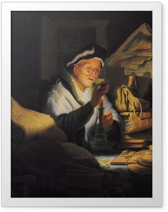 Plakat w ramie Rembrandt - Przypowieść o bogaczu - Reprodukcje